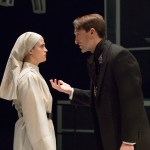 Claire Inie-Richards and Ben Dibble in MEASURE FOR MEASURE. Photo by Mark Garvin.