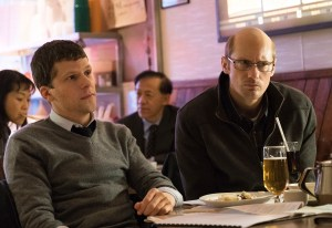 Jesse Eisenberg and Alexander Skarsgard in THE HUMMINGBIRD PROJECT.