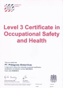 Certificate British Safety Council
