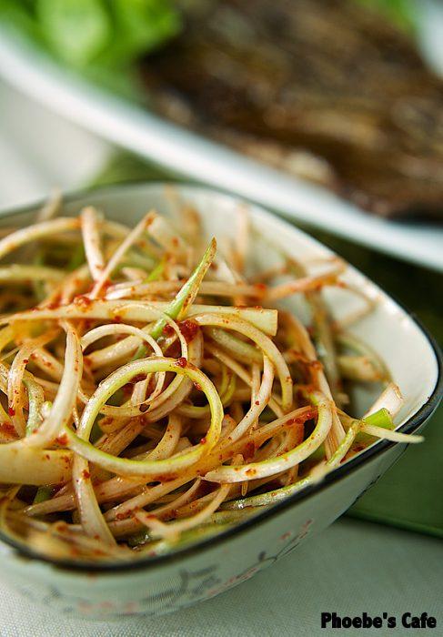 Korean spring Onion salad 'Pa Jeo Ri' recipe