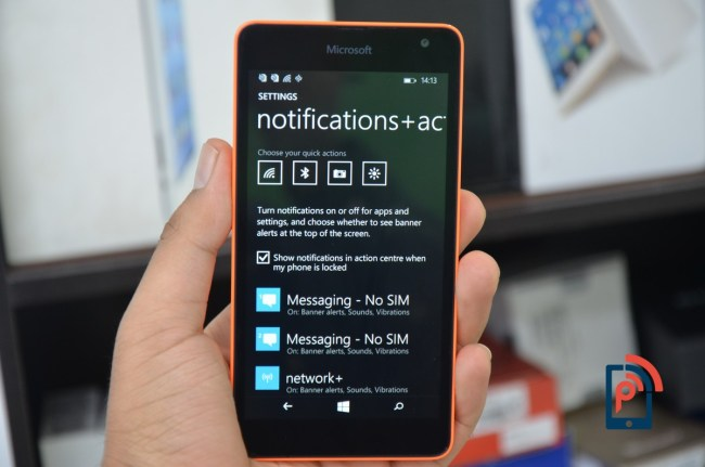 Microsoft Lumia 535 - Notification Center