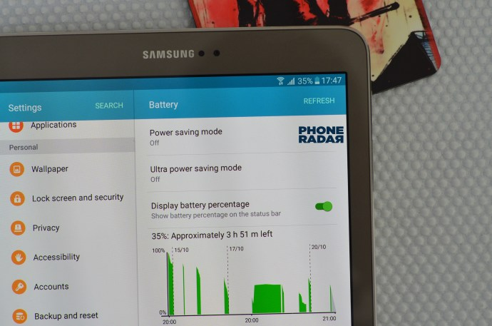 Samsung Galaxy Tab S2 Power saving mode