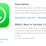 whatapp ios 2.16.7 update