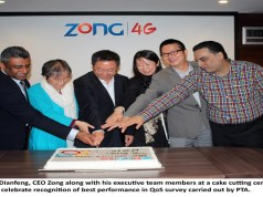 Zong Team Celebrates the Achievement of being Top Operator According to PTA QoS Survey