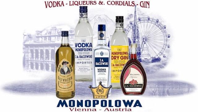Сучасний рекламний плакат продукції  Monopolowa.