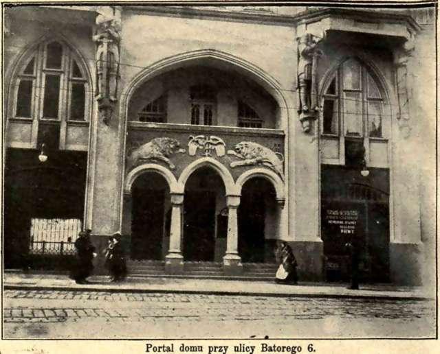 Кам'яниця на Баторія, 6. Фото з преси 1914 року