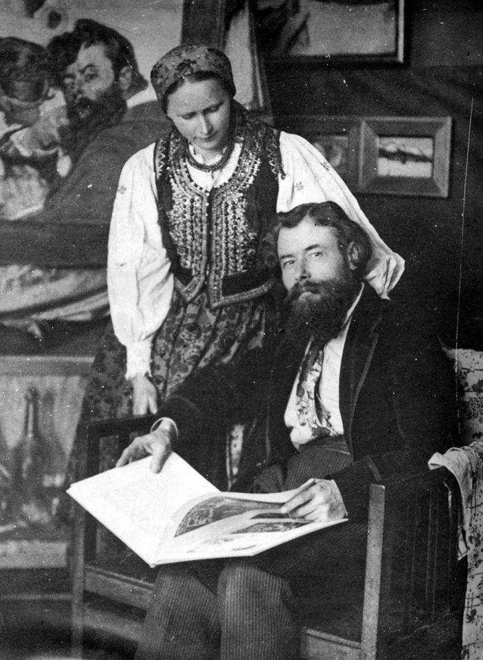 Олекса Новаківський з дружиною Анною-Марією Пальмовською.