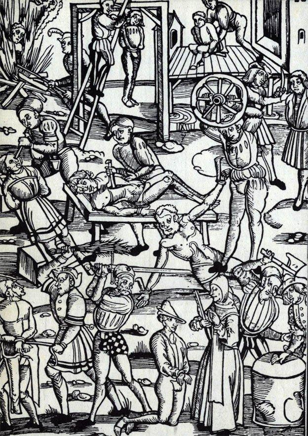 Способи страт і покарань, гравюра 1508 року