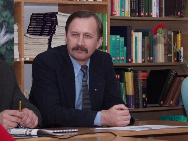 Віталій Щербак, який презентував книгу