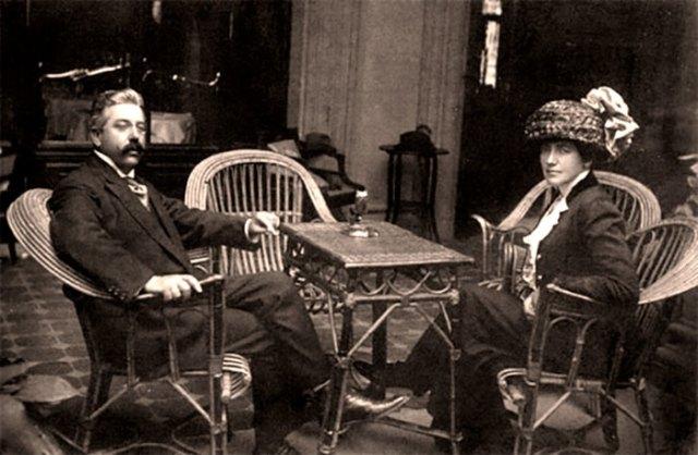 Соломія Крушельницька з чоловіком Чезаре Річчоні