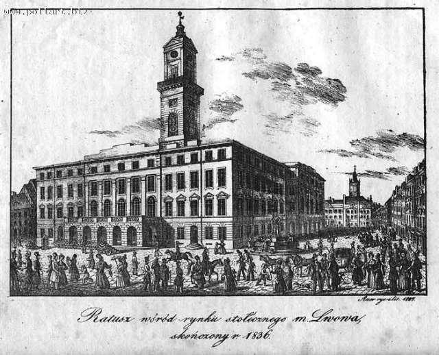 Ратуша у 1836 році, Кароль Ауер