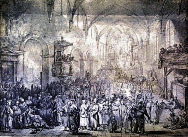 Жан П'єр Норблен де ла Гурден. Сеймик в церкві