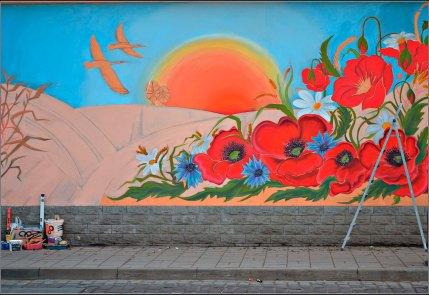 Малюнки на вул. Бенедиктовича (фото Тетяна Жернова 2015р)