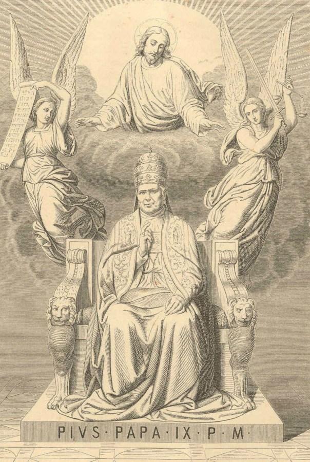 Агіографічне зображення Папи Пія ІХ на троні