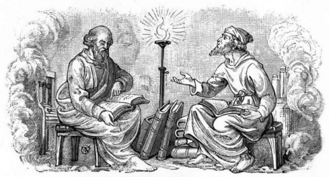 Навчання через дискусію. Метод, який часто застосовували єзуїти. Фото з chavesdapsicologia.blogspot.com
