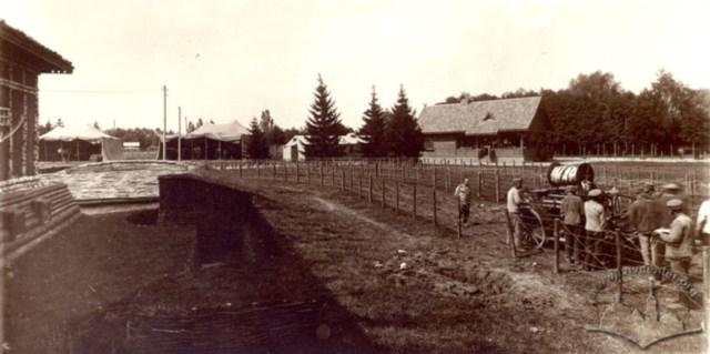 Вигляд на Павільйон Угорського Червоного Хреста на Військовій виставці у Стрийському парку. Фото 1916-1918 рр.