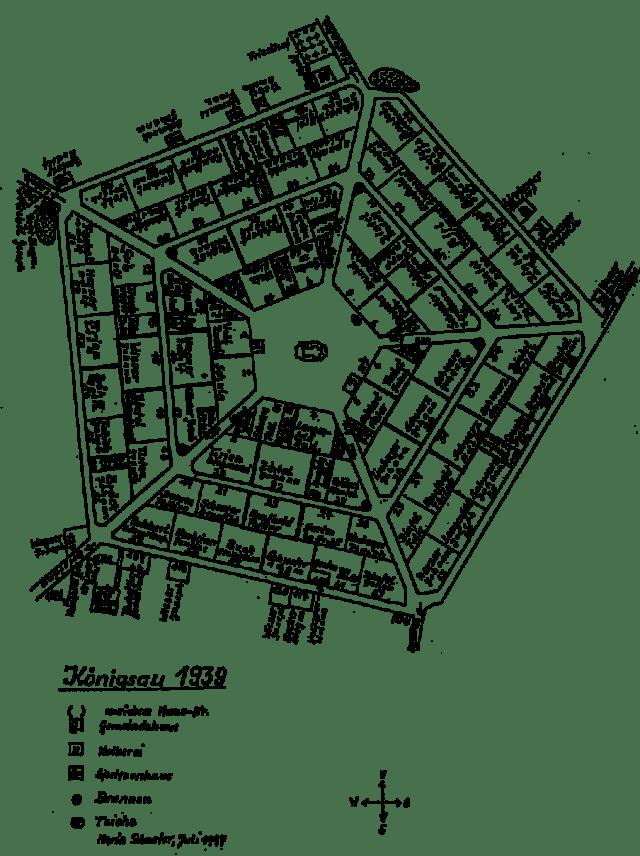 Детальний план Кьонігсау (Рівне) 1939 року