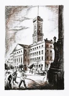"""Людвік Тирович. Львівська Ратуша (""""Piękny Lwów""""), 1932 р."""