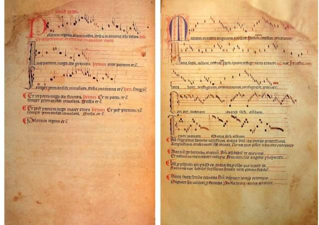 "Фрагмент з ""Llibre Vermell de Montserrat"". Фото з dick.wursten.be"