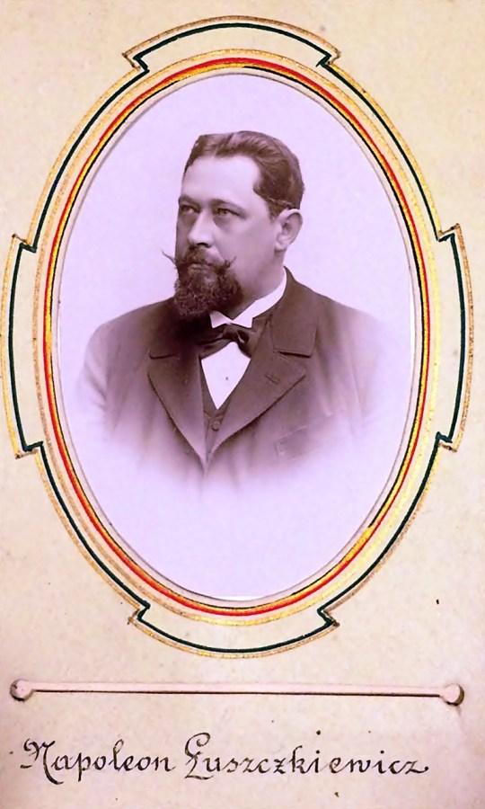 Архітектор Наполеон Лущкевич, член Львівського стрілецького товариства, фото 1896 р.