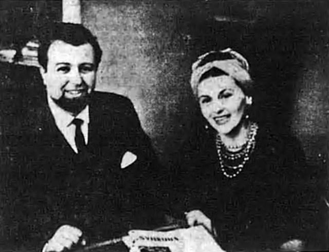 Рома Прийма разом із чоловіком, Юрієм Богачевським, США, 1964 р. (Свобода. – 1964. – 28 лют.)