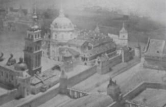 Зображення босяцької хвіртки з бастеями та містками через рови