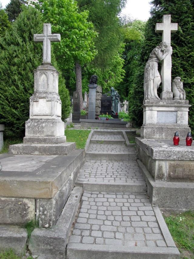 Алея на Личаківському кладовищі, яка веде до могили А. Коцко (поле №5). Фото: Патер Анастасії