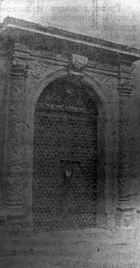 Степан Дмоховський. Двері до каплиці волоської церкви, 1920-ті – поч. 1930-х рр. (Кіно. – 1930. – Ч. 2)