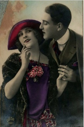 7. Жінка з чоловіком, між 1900–1920. Джерело: https://polona.pl
