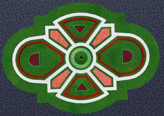 Проект реконструкції - травниковий партер із квітковим орнаментом