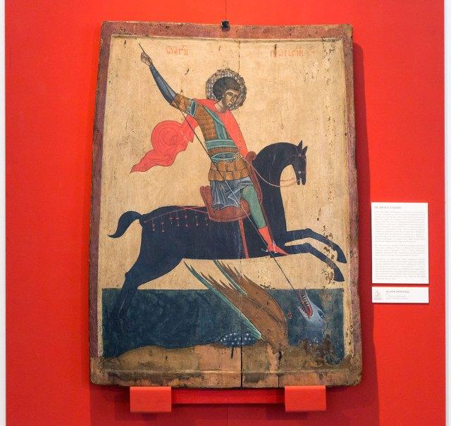 Св. Юрій Змієборець. Ікона XIV століття