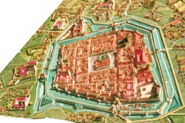 Вигляд Львова напередодні 1772 року на пластинчатій панорамі І.Качора