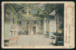 Золота Зала Підгорецького замку. Листівка 1901 року