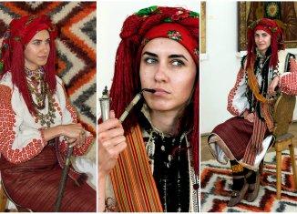 Гуцульське жіноче вбрання 100 років тому