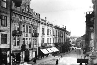 Фото будинку на вулиці І. Франка, 7 (колишня вул. Панська) початку ХХ ст.