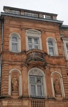 Фасад вілли на вулиці Парковій №1