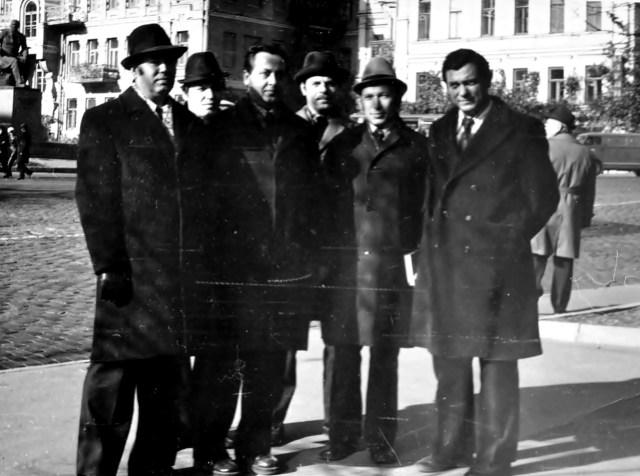 Роланд Франко (з правого боку) в Києві, 1977р (фото – сімейний архів)