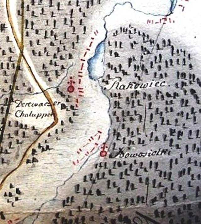 Новосілка на карті з колекції Шнайдера (початок 19 ст).