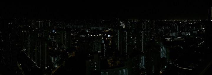 Panorama Night View of Singapore, Queenstown