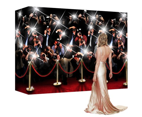 paparazzi wall red carpet booth