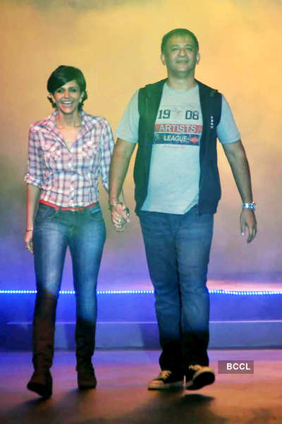 Mandira Bedi walks the ramp with husband Raj Kaushal ...