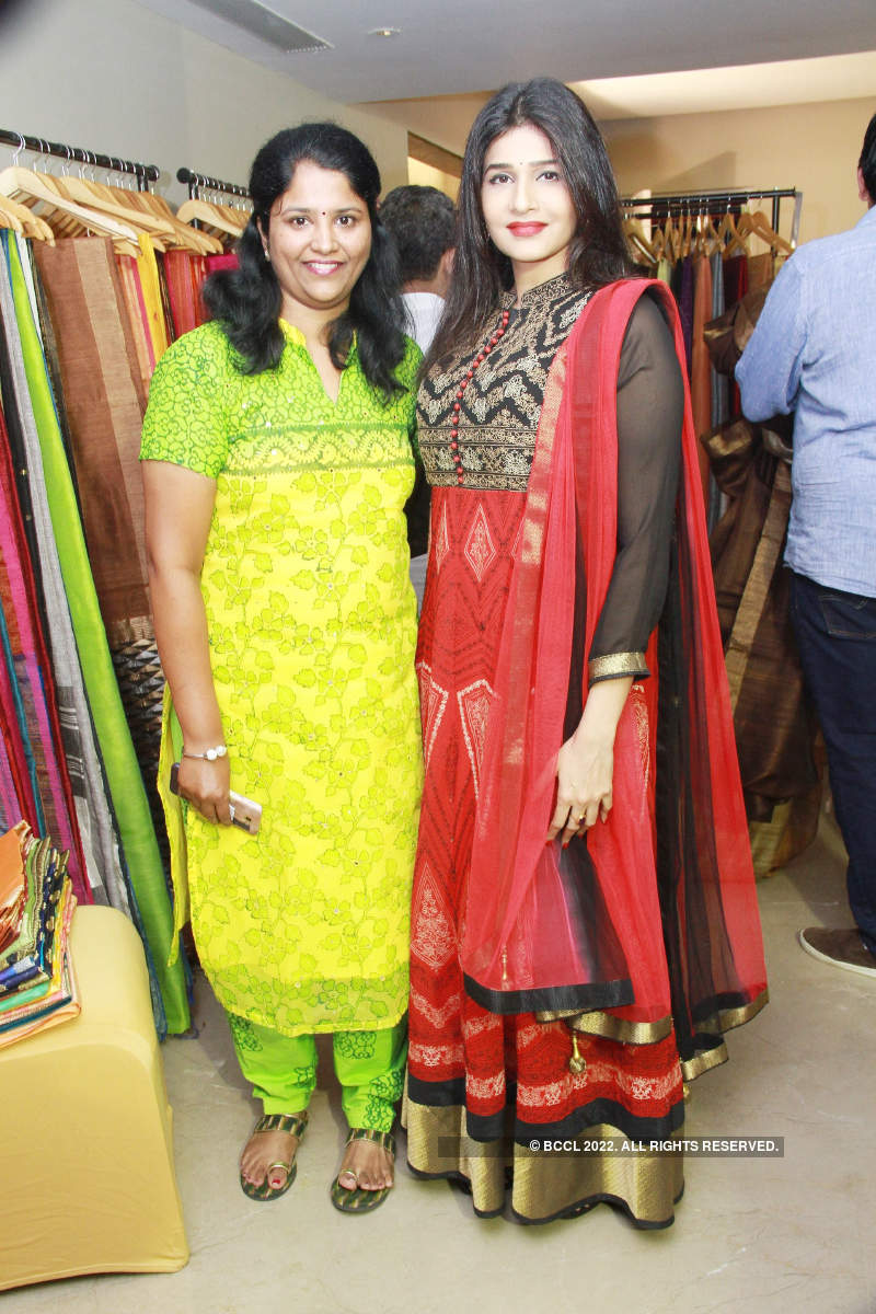 Sneha strikes a pose during the pop-up exhibition titled ...