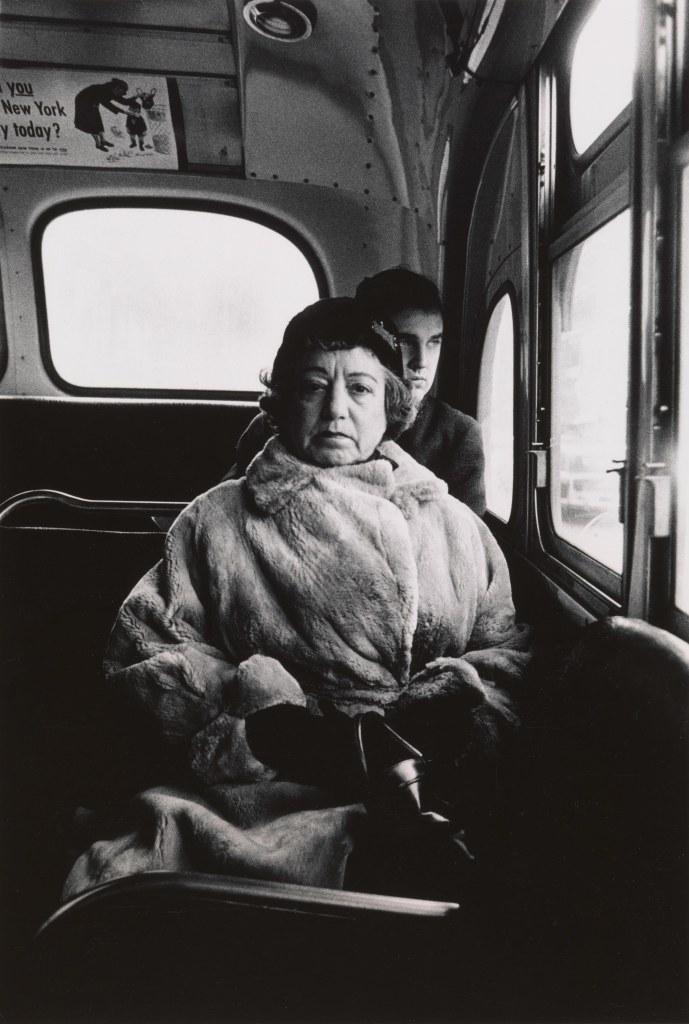 Diane Arbus. Lady on a bus, N.Y.C. 1957.
