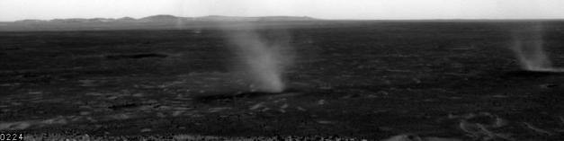 Dust devils on Mars