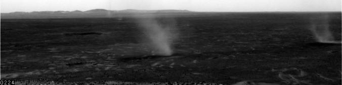 Dust devils on Mars