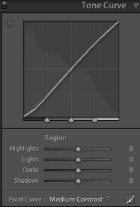 Tone Curve in Lightroom 4
