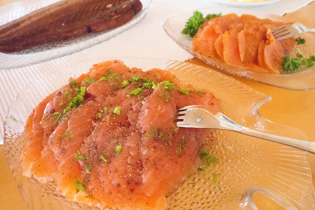 Finnish smoked salmon