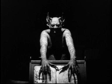 Benjamin Christensen as the Devil
