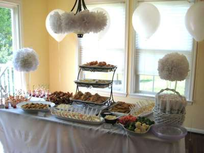 All White Bridal/Wedding Shower Party Ideas   Photo 5 of ...