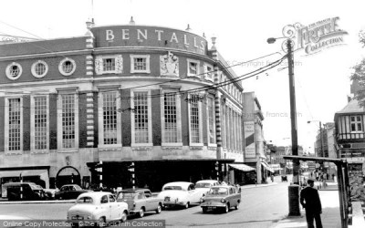 Photo of Kingston Upon Thames, Bentalls Corner c.1960